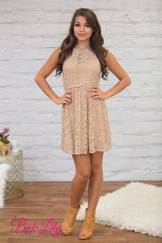 This adorable lace dress is such a beautiful way to celebrate the arrival of fall!