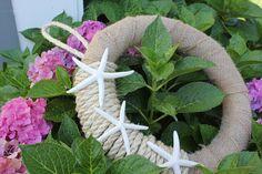 Handmade Nautical Wreath with starfish. by BeachesandBogs on Etsy, $39.00