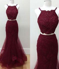 burgundy prom dress, mermaid prom dress, #SIMIBridal #promdresses