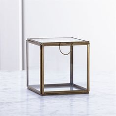 Crate & Barrel Clarus Small Square Box (228.690 IDR) ❤ liked on Polyvore featuring home, home decor, small item storage, trinket box, crate and barrel and square box