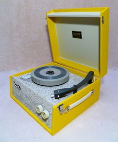 Vintage record player.
