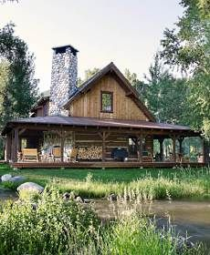 fantasy for our retirement! Todd and my own log cabin on a lake with a crick running next to it. Sarah is not invited!