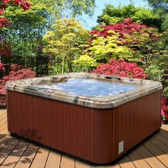 American Spas Premium Acrylic Bench Spa Hot Tub with Backlit LED Waterfall