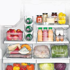 Lose your healthy foods in the fridge? These might be the answer to save you money and help you eat better. Fridge Binz, Refrigerator Organizers, Organizer Bins | Solutions