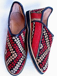 Kilim shoes worn by Berber People in  Moroccao