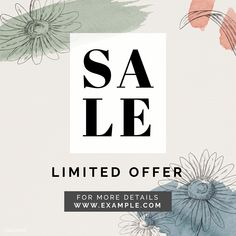 Sale promotion social template vector | premium image by rawpixel.com / Adj Gold Framed Mirror, Gold Picture Frames, Promotional Design, Fish Patterns, Daisy Pattern, Best Templates, Sale Banner, Sale Promotion, Background Templates
