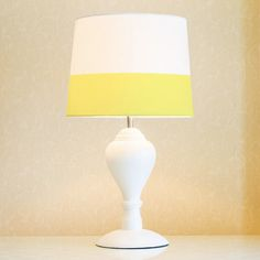$37.87. Yellow Line Lamp shade 34 cm 13.4 in pastel yellow by meretant