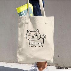 Cute Cat Tote Bag !!! Cat Cotton Tote Bag, Cat Tote Bag, Cat Books Bag, Cat Grocery Bag, Cat Shopping Bag, Cat Cotton Bag