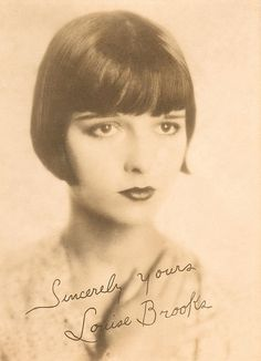 A signed picture of silent film star Lulu Brooks
