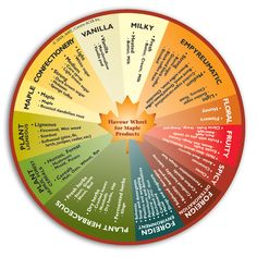Flavour wheel for maple syrup products Canning Jar Labels, Canning Recipes, Counter Culture Coffee, Maple Syrup Recipes, Vanilla Milk, Pure Maple Syrup, Grow Your Own Food, Words To Describe, Confectionery