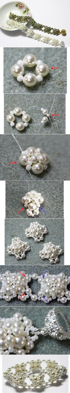 diy, pearl, beaded, bracelet, beads
