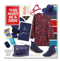 """""""Follow the signs"""" by clovers-mind ❤ liked on Polyvore featuring Anja, Kenzo, Madewell, Forever 21, Pottery Barn, Rebecca Minkoff, WorkWear, kenzo, friday and longsleevedress"""