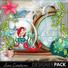 Mermaidsworld1 Paint Shop, Easy Install, Photoshop Elements, Photo Book, Mermaids, Digital Scrapbooking, Design Elements, Display, Kit