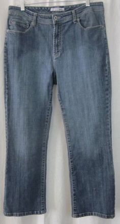 Chico's Platinum Jeans Size 2 Short 33x27 Straight Leg Free Shipping #Chicos #StraightLeg