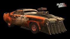 Blood Drive Muscle Car - Character vehicles and props textured using .One of the cars I designed for Blood Drive Rc Cars, Slot Cars, Best Family Cars, Mid Size Car, Death Race, Cars Characters, Subaru Legacy, Hyundai Sonata, Chevrolet Malibu