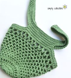 Sturdiest Ever Market Bag crochet pattern in olive by Celina Lane, Simply Collectible