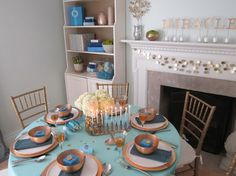 Home for Chanukah eclectic living room by Design Megillah  |  SHAKE UP your holiday decor in honor of #thanksgivukkah