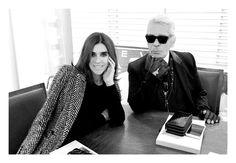 CR Fashion Book 6 - Carine Roitfeld Interview.  Roitfeld and Lagerfeld