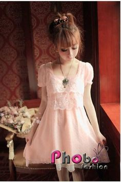 Phobo Fashion Rosa/Pink Pretty Prinzessinen Sweet Spitze koreanische Kleid  Bestell-Nr.asf2726  Herst.Nr: #4020    If you like this Product, please feel free to repin. We will offer 10% discount for every product you repin. we deliver worldwide only 4,90€ shipping cost, any questions? just write on comments 25,90€