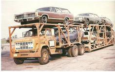 Pinned by http://FlanaganMotors.com.  GMC with 1969 Fords