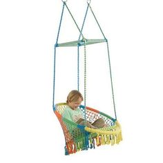 Zoomie Kids Gokey Hammock Chair with Woven Seat and Macrame Knots