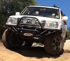 Nice tube bumper, Toyota Land Cruiser 100 Series