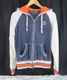touch by Alyssa Milano NFL Chicago Bears Womens Velour Hoodie Size L  389a793e8