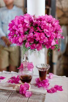 #weddingcandles #toptable #kefaloniawedding #destinationweddings #bougainvillea My Wedding Planner, Bougainvillea, Beautiful One, Our Wedding Day, Event Styling, Buttonholes, Amazing Flowers, Fairy Lights, Bouquet