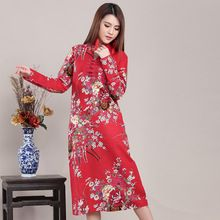 Like and Share if you want this  Chinese Style Vintage Flower Bird Print Women Long Dress Cotton Linen Plus Size Autumn Dress Loose Casual Robe Femme     Tag a friend who would love this!     FREE Shipping Worldwide     Buy one here---> http://oneclickmarket.co.uk/products/chinese-style-vintage-flower-bird-print-women-long-dress-cotton-linen-plus-size-autumn-dress-loose-casual-robe-femme/