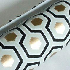 David Hicks Hexagon Wall Paper - By The Yard. $18.00, via Etsy.