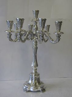 Fine Sterling Silver Nine Light Candelabra #Hatzorfim