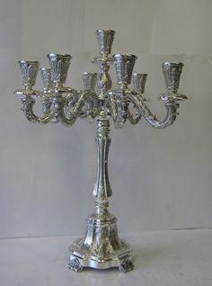 Fine Sterling Silver Nine Light Candelabra #Hatzorfim