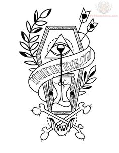 Coffin Sample Tattoo Design                                                                                                                                                                                 Más