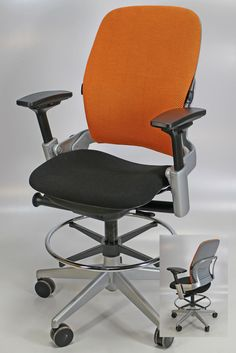 These Office Stools Are Great For An Standing Height Desk Or Conference Table You Pick Fabric Ergonomic Task Chair