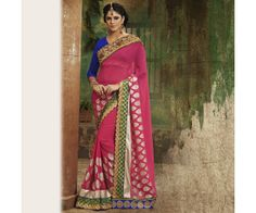 Pink Designer Party wear Saree