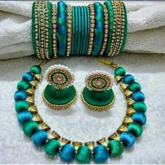 Image result for silk thread jewelleries