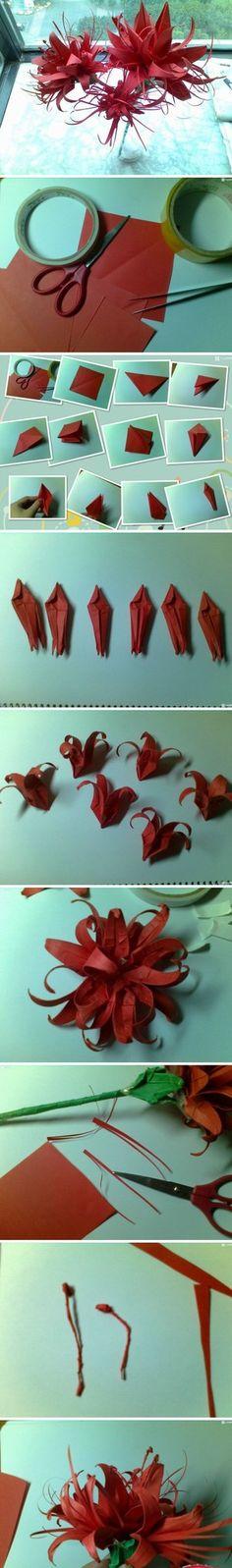 彼岸花的折法,很美很美。【阿团丸子】 - 堆糖 发现生活_收集美好_分享图片