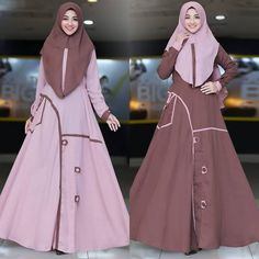 Daniyah by Humaira Hijab Fashion Muslimah, Abaya Fashion, Ootd Hijab, Hijab Dress, Kurta Neck Design, African Fashion, Dresses, Vestidos, African Wear