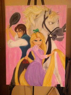 Disney's Tangled acrylic painting 18x24 on canvas by ArtbyAshleeG