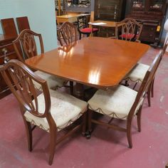 Sold Sale Now 795 Originally 1295 Set Vintage Antique Mahogany Dining Room Set C 1940 Beautifull With Images Dining Room Inspiration Dining Room Set Chair Design