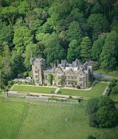 Stradey Castle, nr Llanelli, Wales, is a crenellated Victorian house looking out to sea, with tower, underground tunnels and dungeons. It was built in 1853 (enlarged in the 1870s) for the Mansel Lewis family who still use it as their home.