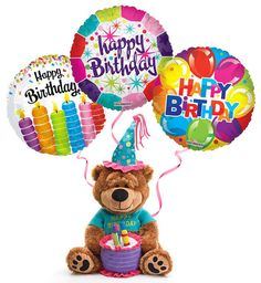 Znalezione obrazy dla zapytania happy birthday with cake and balloons Happy Birthday Bear, Happy Birthday Wishes Messages, Birthday Celebration Quotes, Happy Birthday Video, Birthday Cheers, Happy Birthday Flower, Happy Birthday Balloons, Happy Birthday Images, Happy Birthday Greetings