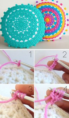 Make Your Own Mandala Cushions With Pom Poms   Click Pic for 18 DIY Dorm Room Ideas for Girls   Dorm Room Decorating Ideas for Girls