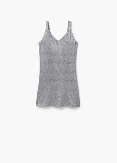 Robe métallisée | MANGO