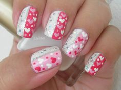 Sparkly Valentine Make sure to check out http://www.thepolishobsessed.com for nail art, tutorials, giveaways and more!