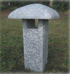 Granite stone lanterns for Japanese gardens, gifts, garden lights, garden ornaments- nice simple granite lantern