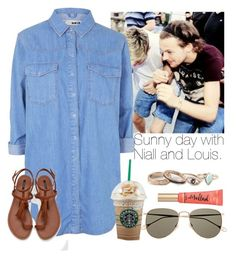 """Sunny day with Niall and Louis."" by welove1 ❤ liked on Polyvore featuring Topshop, Forever 21, Gucci, Too Faced Cosmetics and Full Tilt"