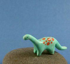 Little Dinosaur  Hand Sculpted Miniature by MadeWithClayAndLove, $20.00