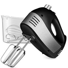 White 9-Speed Hand Mixer Extra Long Long Beaters Beaters Clear Case Handheld