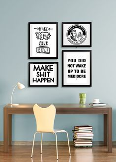 Cool Motivational Prints Bad Posters By Nowes Modern Office Decorcool